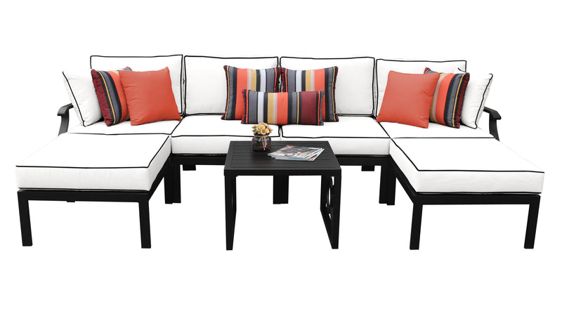Kathy Ireland Homes & Gardens Madison Ave. 7 Piece Outdoor Aluminum Patio Furniture Set 07a