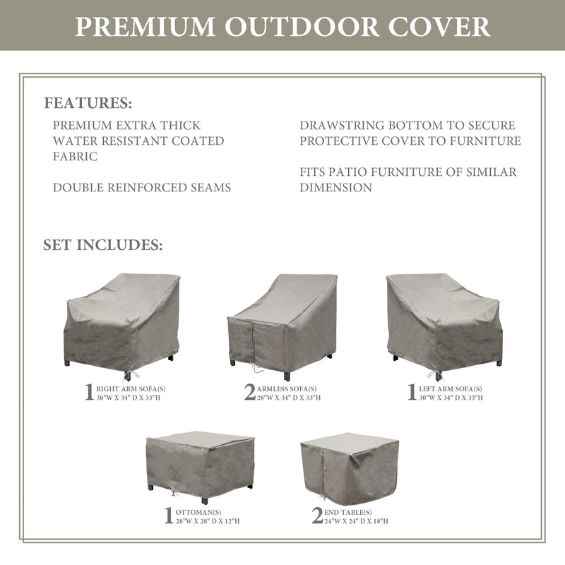 Kathy Ireland Homes & Gardens MADISON-07a Protective Cover Set