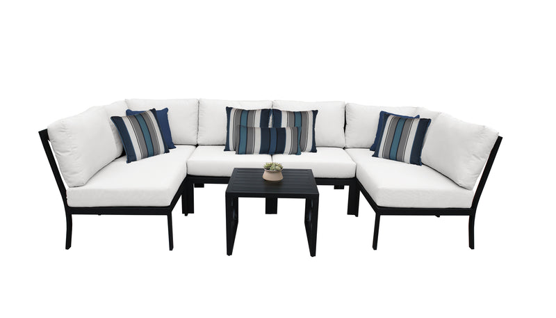 Kathy Ireland Homes & Gardens Madison Ave. 7 Piece Outdoor Aluminum Patio Furniture Set 07c