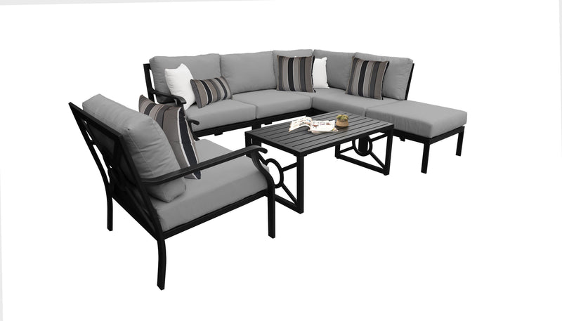Kathy Ireland Homes & Gardens Madison Ave. 7 Piece Outdoor Aluminum Patio Furniture Set 07f