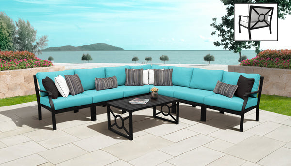 Kathy Ireland Homes & Gardens Madison Ave. 8 Piece Outdoor Aluminum Patio Furniture Set 08a
