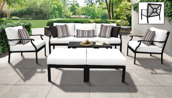 Kathy Ireland Homes & Gardens Madison Ave. 8 Piece Outdoor Aluminum Patio Furniture Set 08c