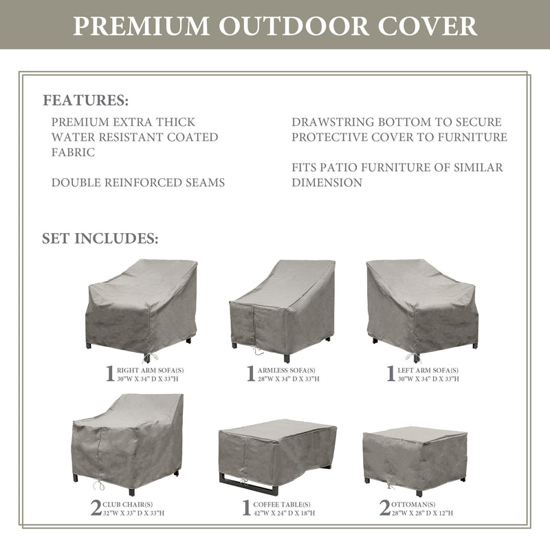 Kathy Ireland Homes & Gardens MADISON-08c Protective Cover Set