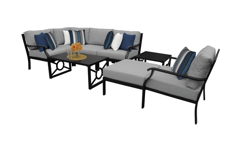 Kathy Ireland Homes & Gardens Madison Ave. 8 Piece Outdoor Aluminum Patio Furniture Set 08n