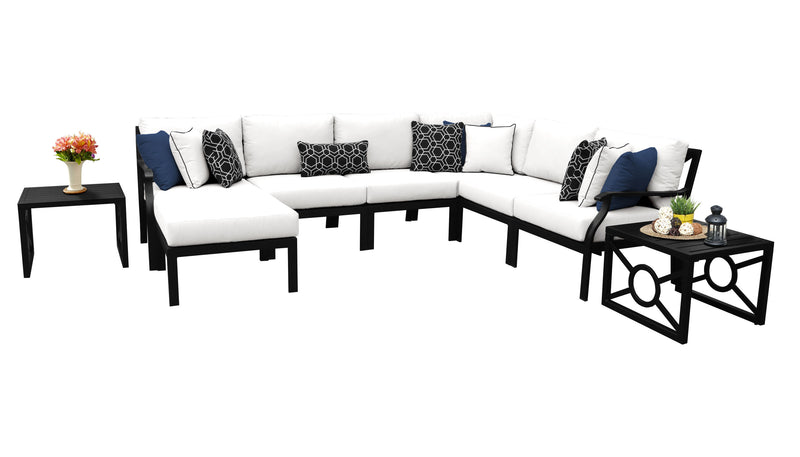 Kathy Ireland Homes & Gardens Madison Ave. 9 Piece Outdoor Aluminum Patio Furniture Set 09b
