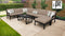 Kathy Ireland Homes & Gardens Madison Ave. 9 Piece Outdoor Aluminum Patio Furniture Set 09d
