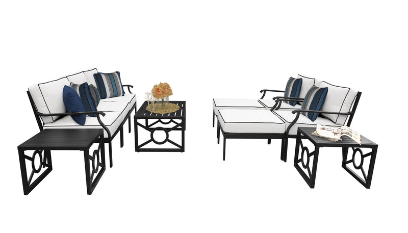 Kathy Ireland Homes & Gardens Madison Ave. 10 Piece Outdoor Aluminum Patio Furniture Set 10c