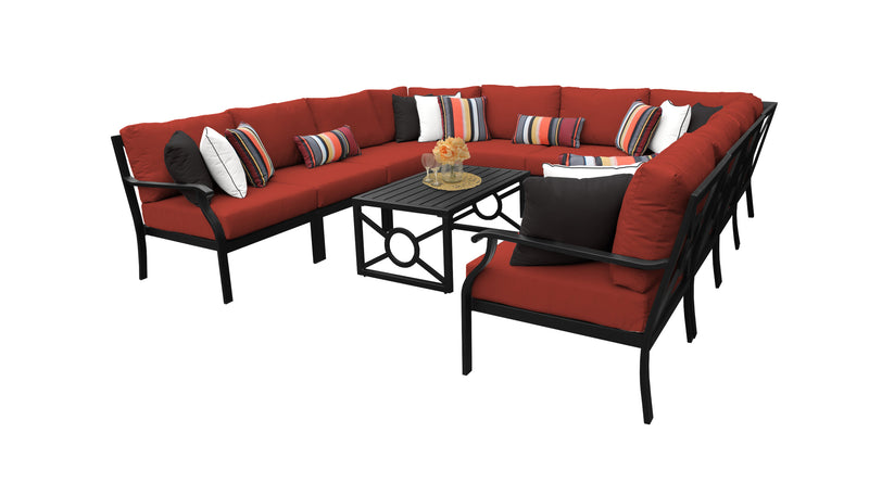 Kathy Ireland Homes & Gardens Madison Ave. 11 Piece Outdoor Aluminum Patio Furniture Set 11a