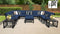 Kathy Ireland Homes & Gardens Madison Ave. 12 Piece Outdoor Aluminum Patio Furniture Set 12g