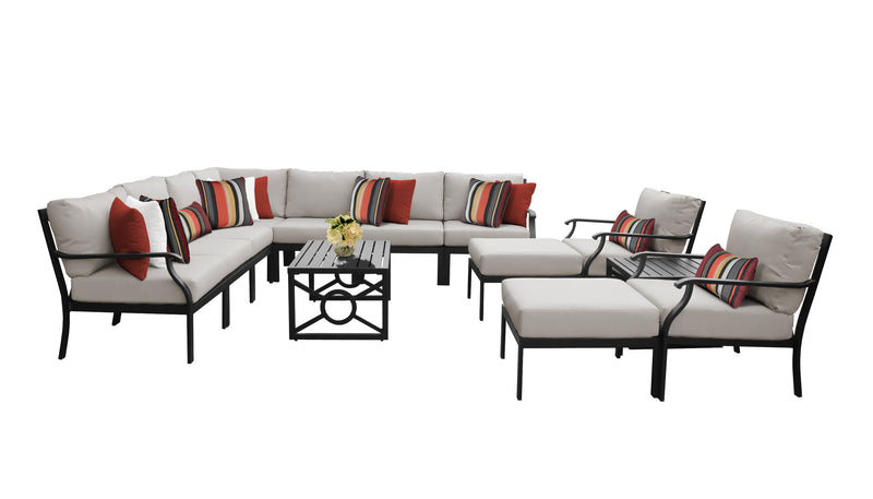 Kathy Ireland Homes & Gardens Madison Ave. 13 Piece Outdoor Aluminum Patio Furniture Set 13a