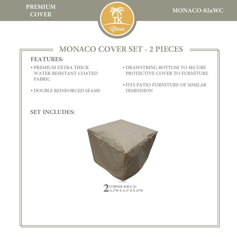 MONACO-02a Protective Cover Set, in Beige