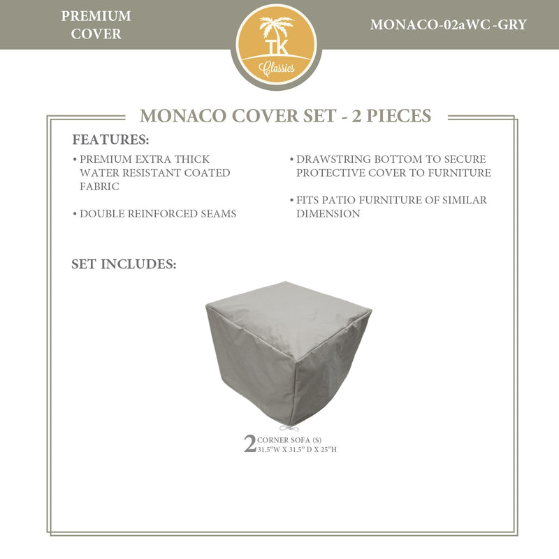 MONACO-02a Protective Cover Set, in Grey