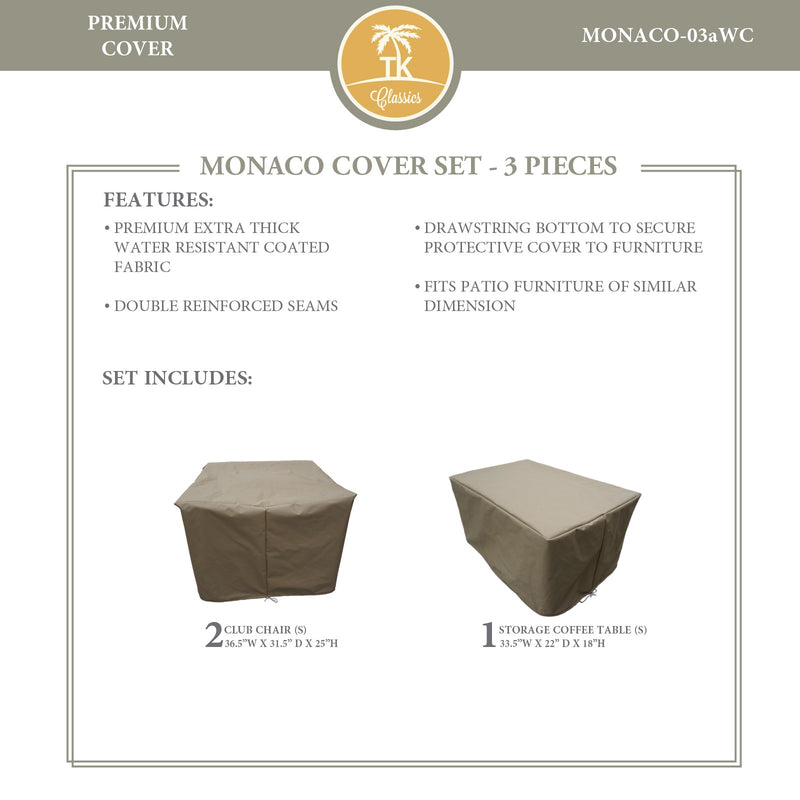 MONACO-03a Protective Cover Set, in Beige