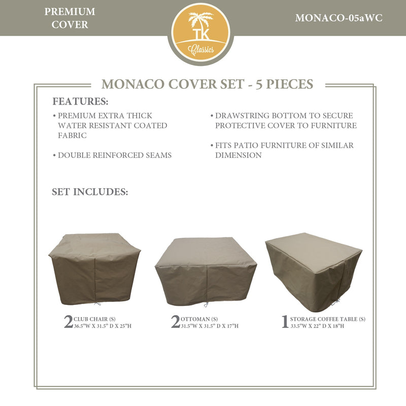 MONACO-05a Protective Cover Set, in Beige