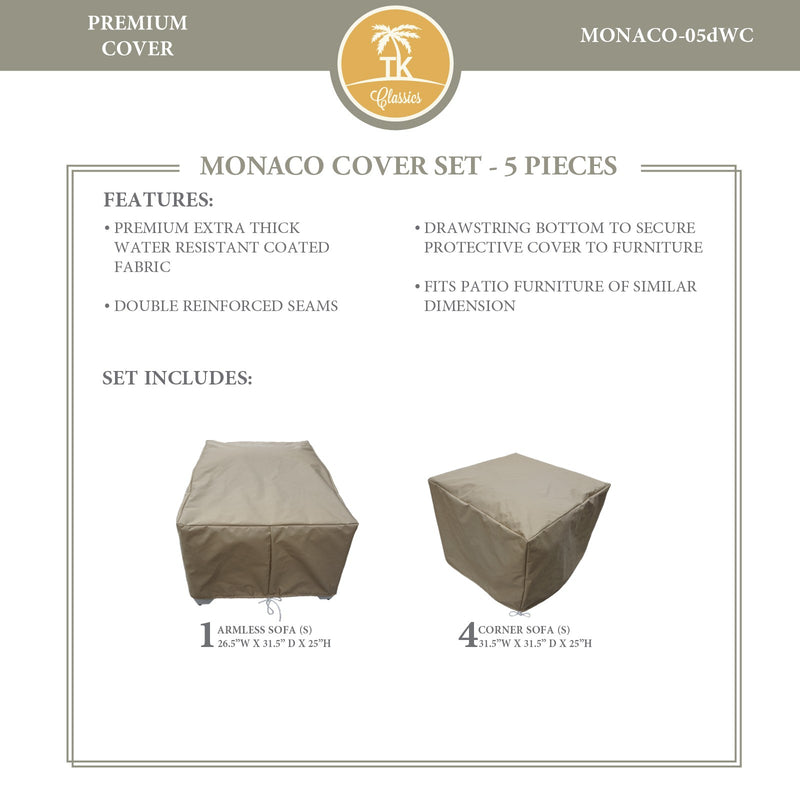 MONACO-05d Protective Cover Set, in Beige