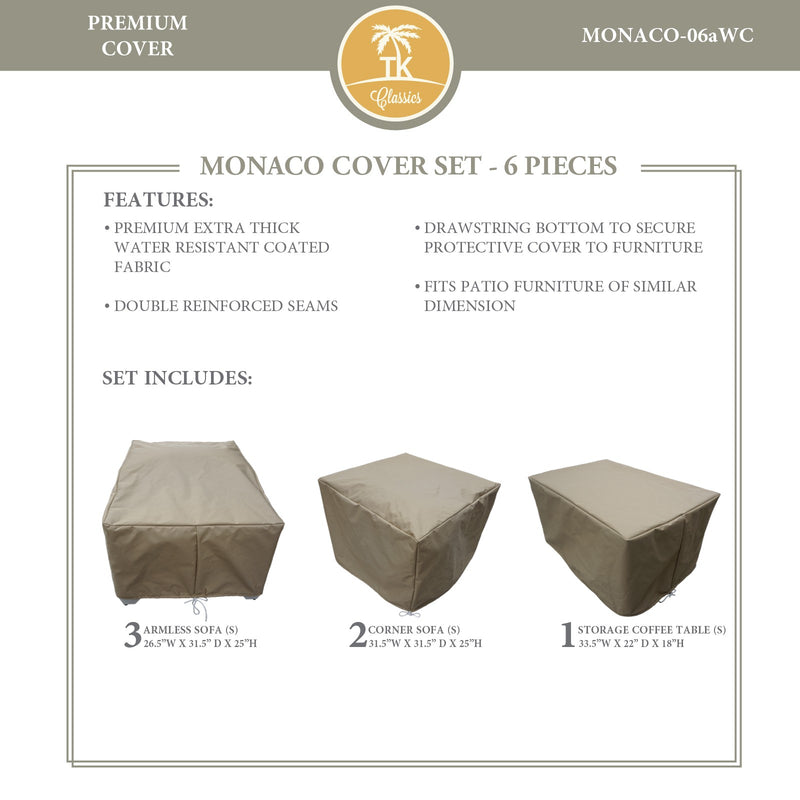 MONACO-06a Protective Cover Set, in Beige