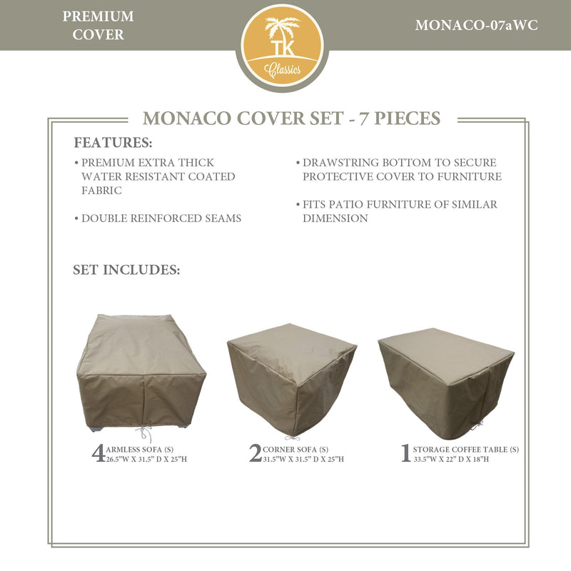 MONACO-07a Protective Cover Set, in Beige