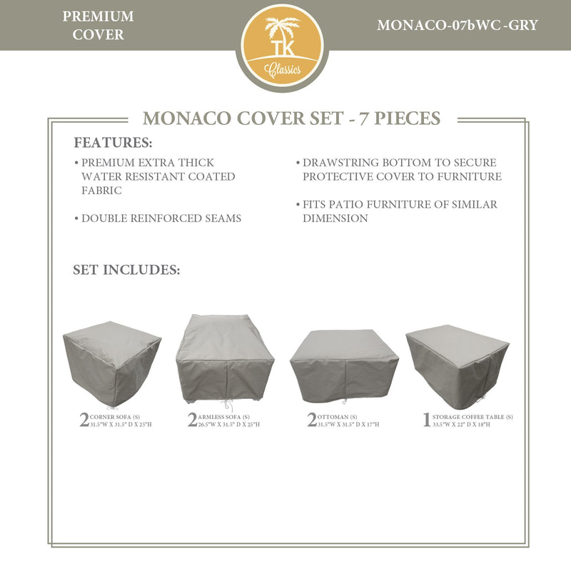 MONACO-07b Protective Cover Set, in Grey