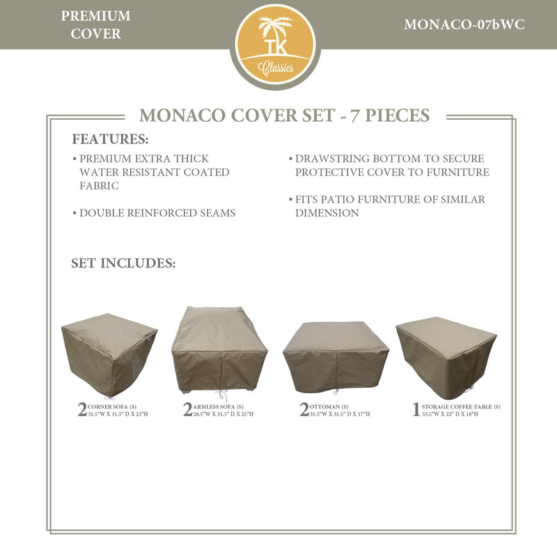 MONACO-07b Protective Cover Set, in Beige