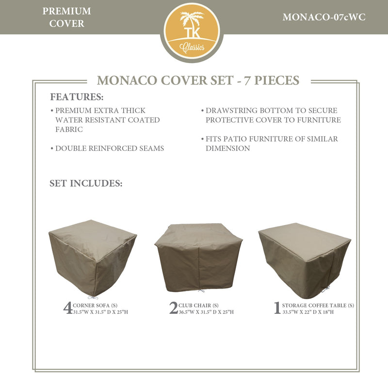 MONACO-07c Protective Cover Set, in Beige