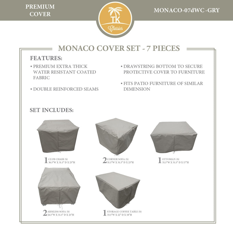 MONACO-07d Protective Cover Set, in Grey