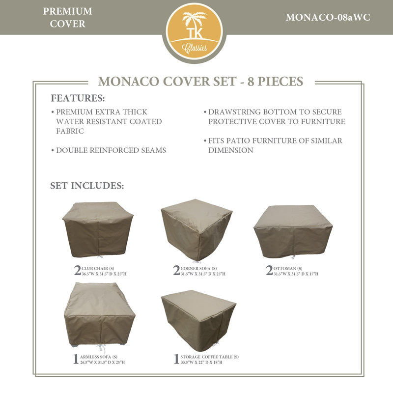 MONACO-08a Protective Cover Set, in Beige