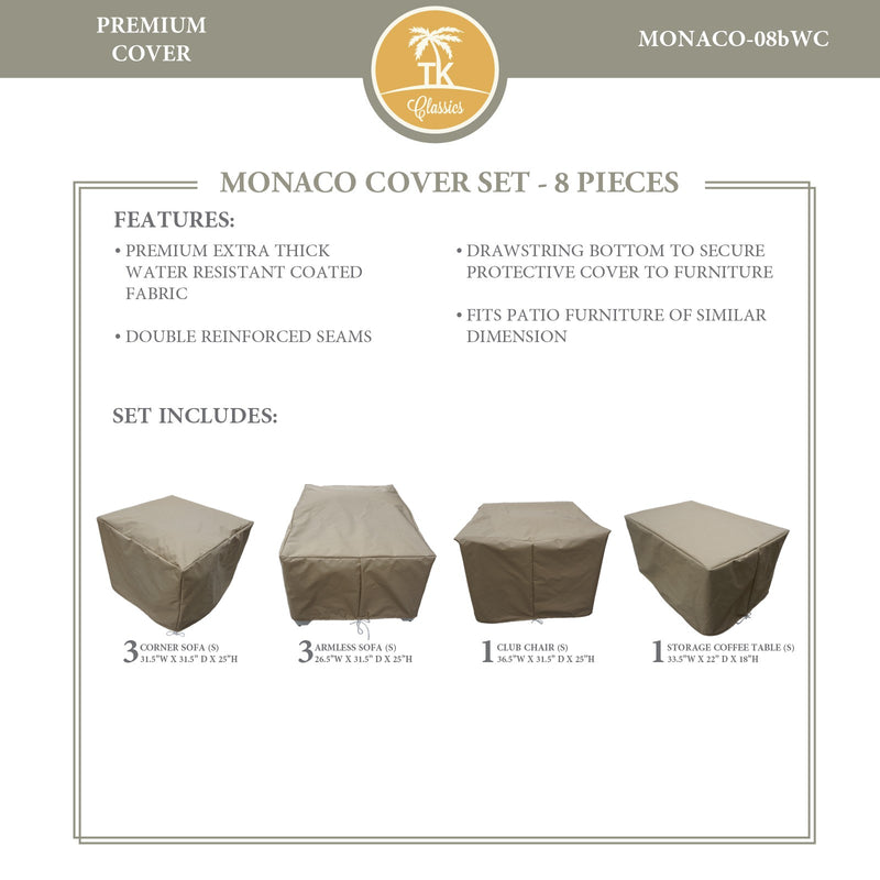 MONACO-08b Protective Cover Set, in Beige