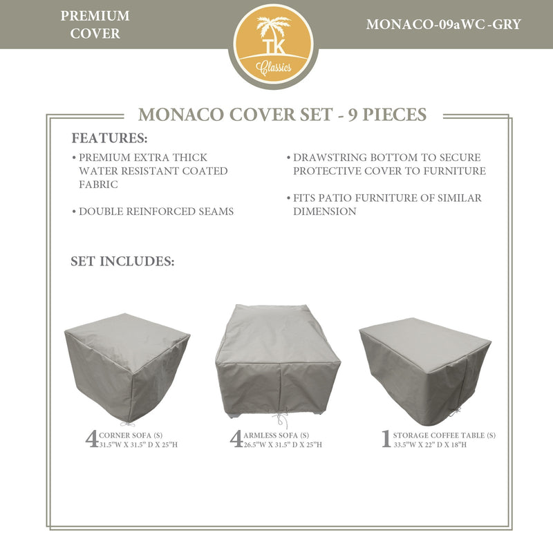 MONACO-09a Protective Cover Set, in Grey