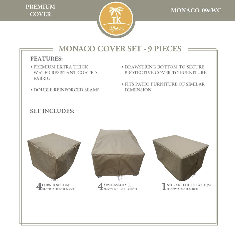 MONACO-09a Protective Cover Set, in Beige