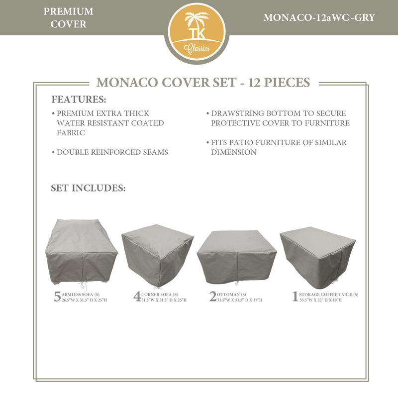 MONACO-12a Protective Cover Set, in Grey