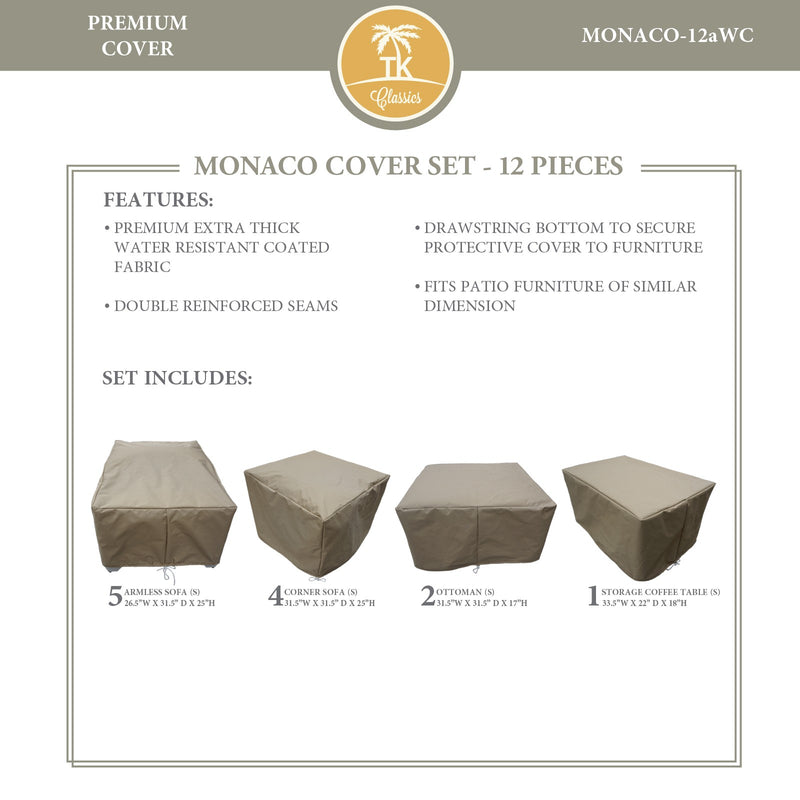 MONACO-12a Protective Cover Set, in Beige