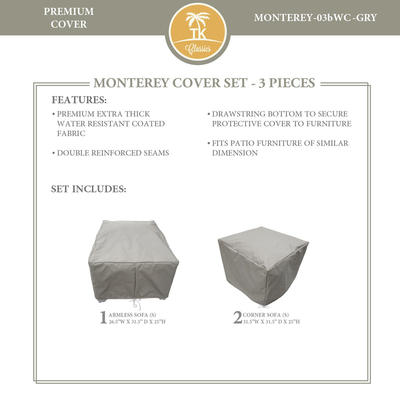 MONTEREY-03b Protective Cover Set, in Grey