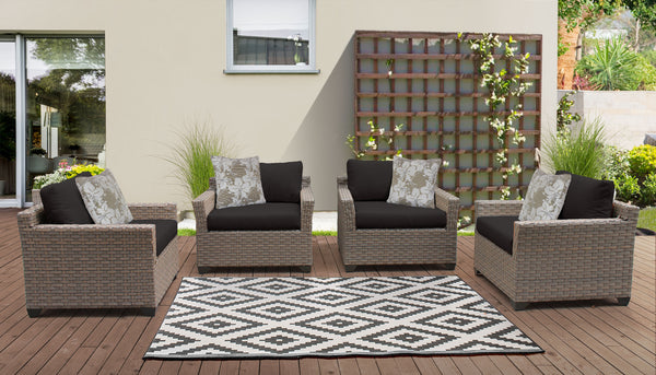 Monterey 4 Piece Outdoor Wicker Patio Furniture Set 04a