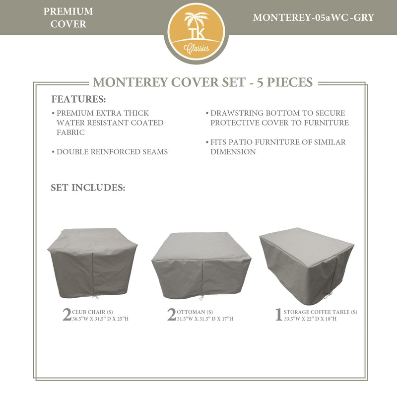 MONTEREY-05a Protective Cover Set, in Grey