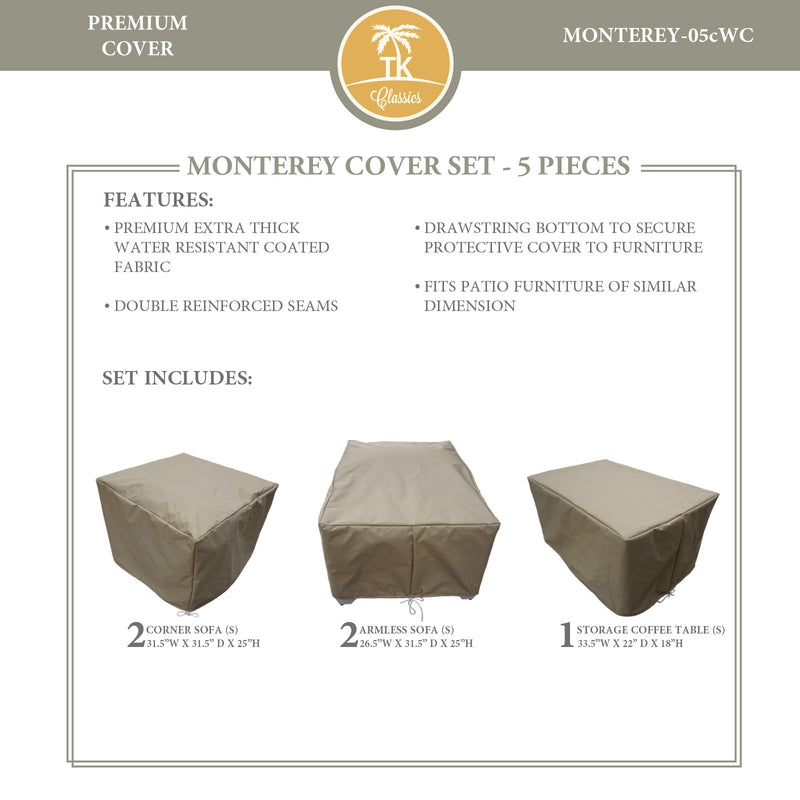 MONTEREY-05c Protective Cover Set, in Beige