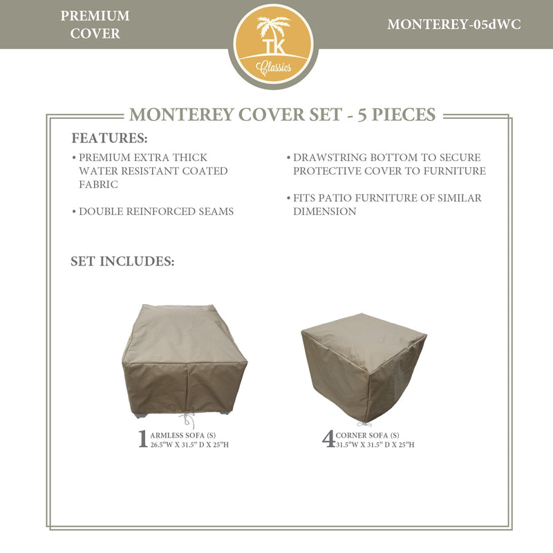MONTEREY-05d Protective Cover Set, in Beige