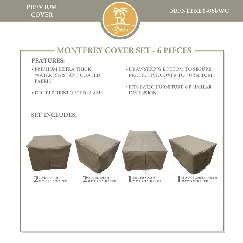 MONTEREY-06b Protective Cover Set, in Beige