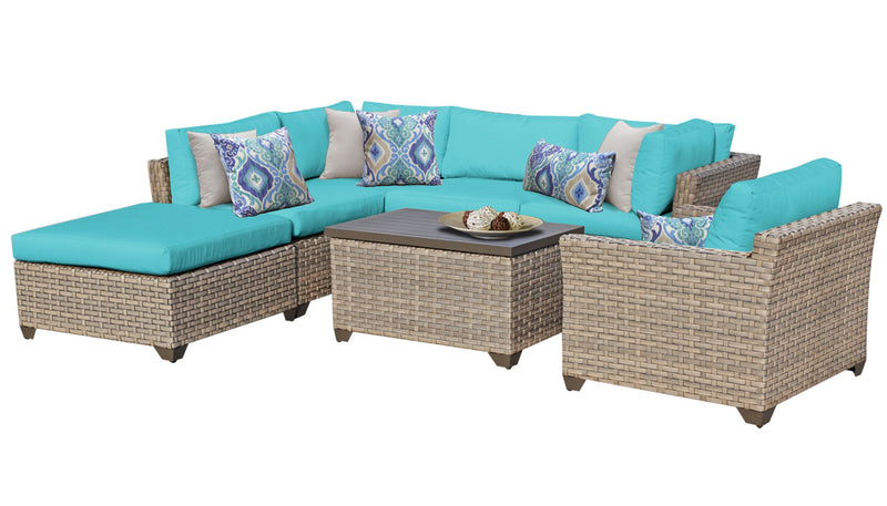 Monterey 7 Piece Outdoor Wicker Patio Furniture Set 07d