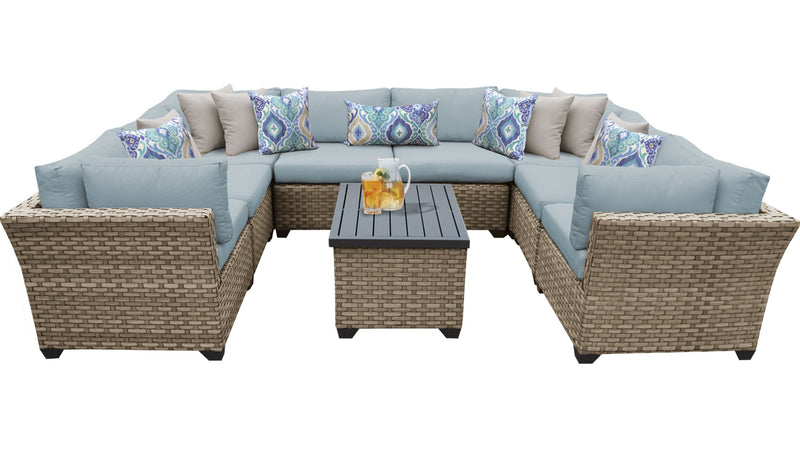 Monterey 9 Piece Outdoor Wicker Patio Furniture Set 09a