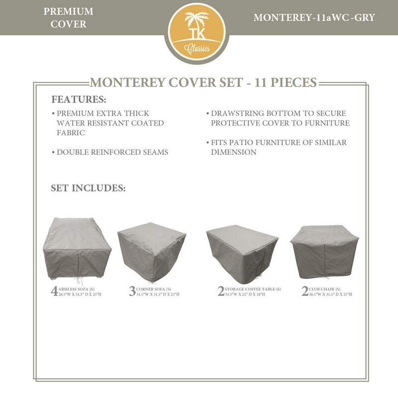 MONTEREY-11a Protective Cover Set, in Grey
