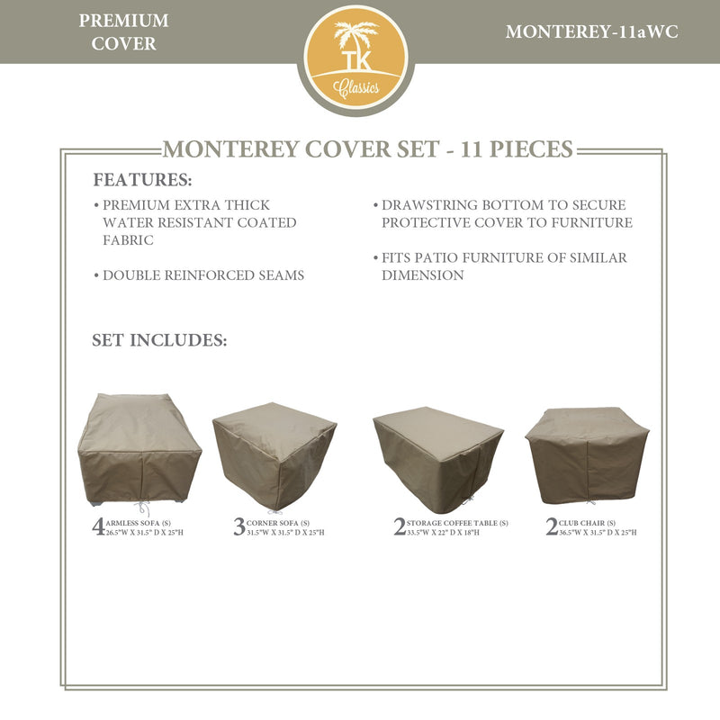 MONTEREY-11a Protective Cover Set, in Beige