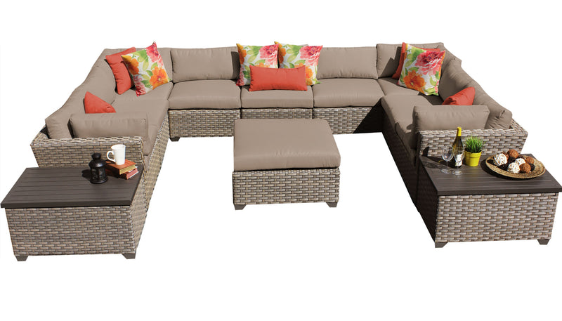 Monterey 12 Piece Outdoor Wicker Patio Furniture Set 12a