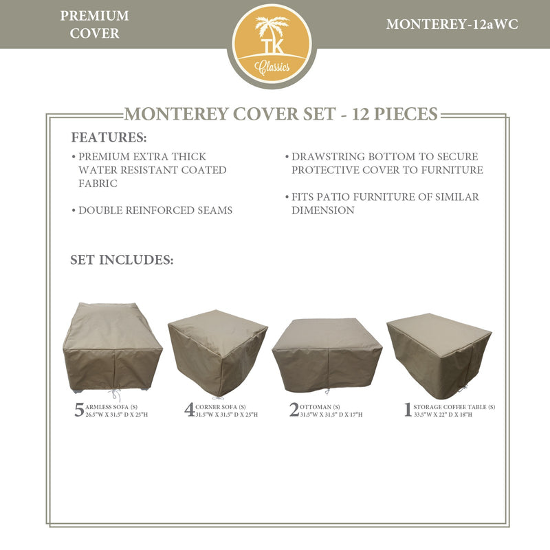 MONTEREY-12a Protective Cover Set, in Beige