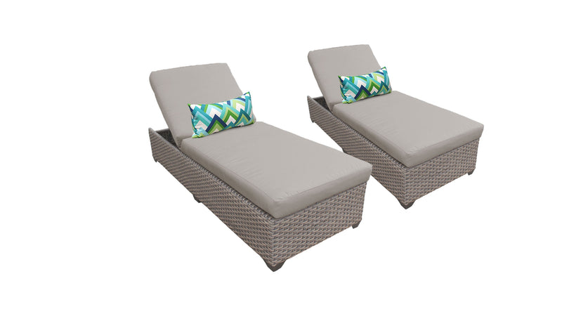 Monterey Chaise Set of 2 Outdoor Wicker Patio Furniture