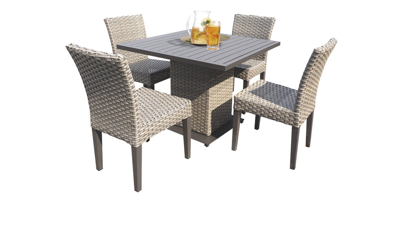 Monterey Square Dining Table with 4 Chairs Without Cushions