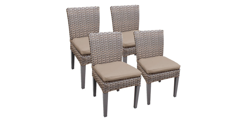 4 Monterey Armless Dining Chairs