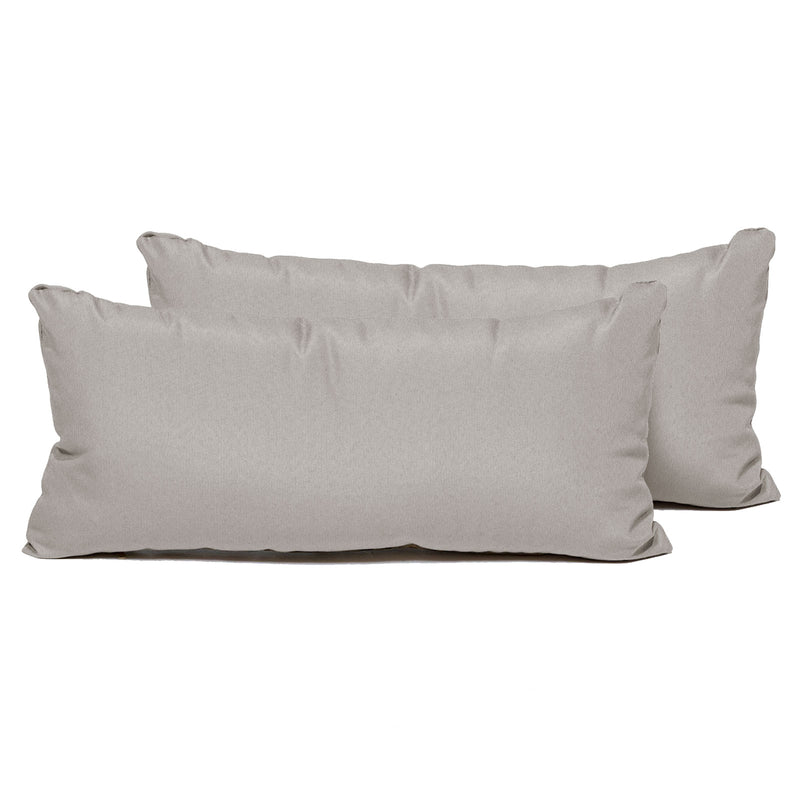 Beige Outdoor Throw Pillows Rectangle Set of 2