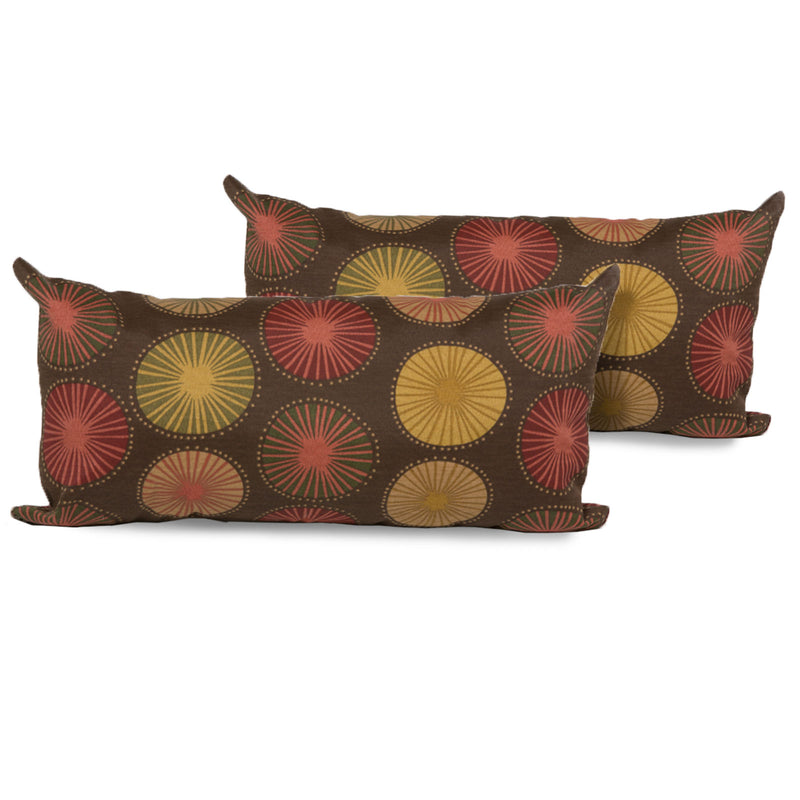 Sunburst Outdoor Throw Pillows Rectangle Set of 2