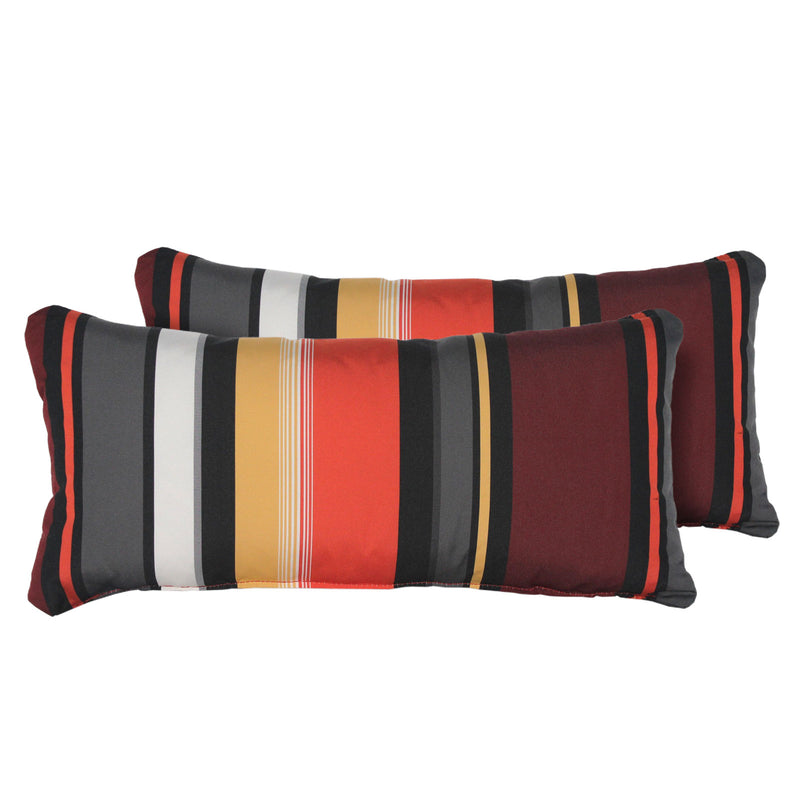 Coral Outdoor Throw Pillows Rectangle Set of 2
