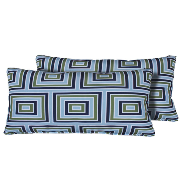 Kathy Ireland Homes & Gardens Atrium Pillow in Forest Rectangle Set of 2